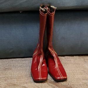 Aquatalia Volt Red patent leather boots sz 8